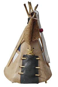 ティピ型キーホルダー(チョコ)