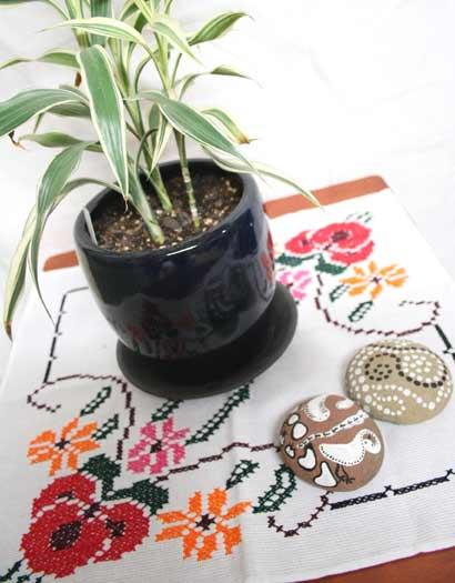 メキシコ刺繍クロス